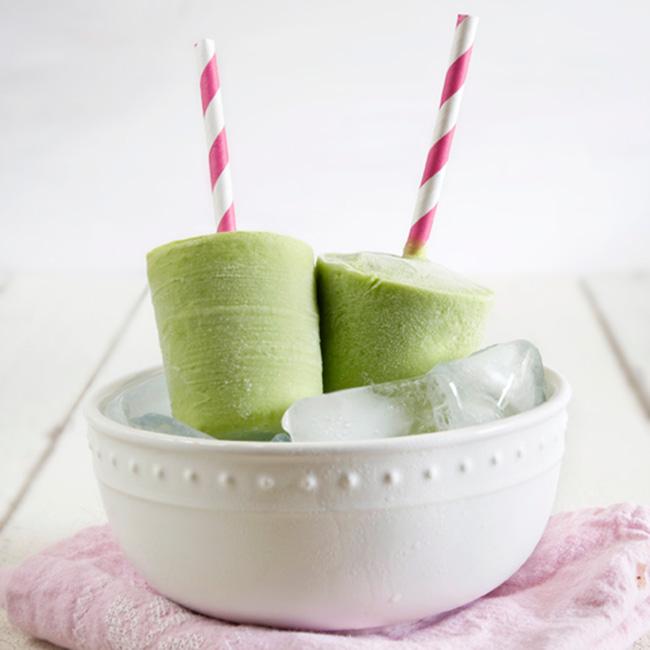 In The Kitchen Creamy Green Tea Avocado Popsicles
