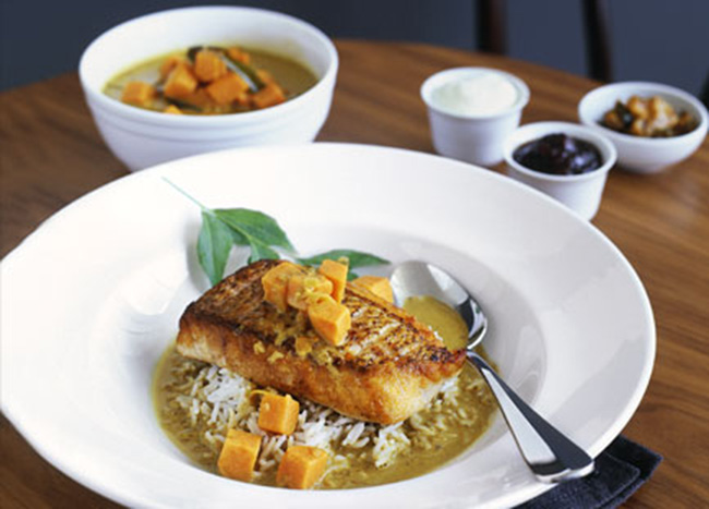 Spicy Snapper & Sweet Potato Yellow Curry